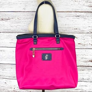 Juicy Couture Penny pink nylon zippered tote